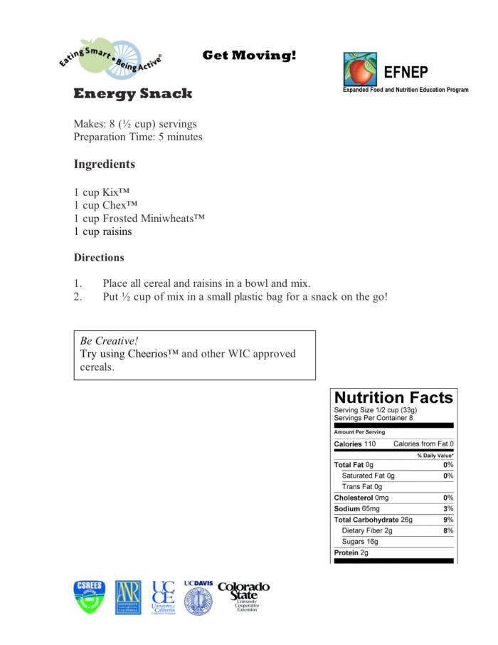 Energy Snack Recipe